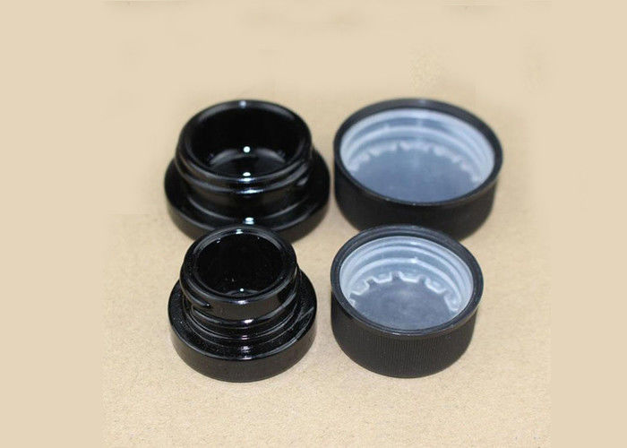 5ml 6ml 9ml Glass Jars , Plastic Lids Glass Concentrate Container Dab Jar